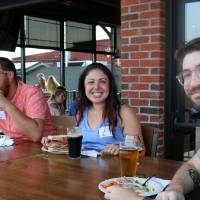 Alumni enjoy cold brews and delicious food at Founders Brewing Co.